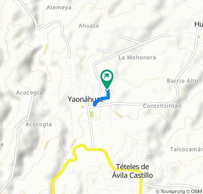 De Calle Allende, Yaonáhuac a Calle Ahuehuete, Yaonáhuac