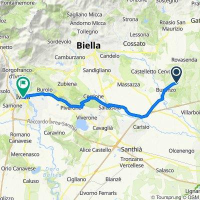 SP61, Buronzo to Piazza Ferruccio Nazionale 5, Ivrea