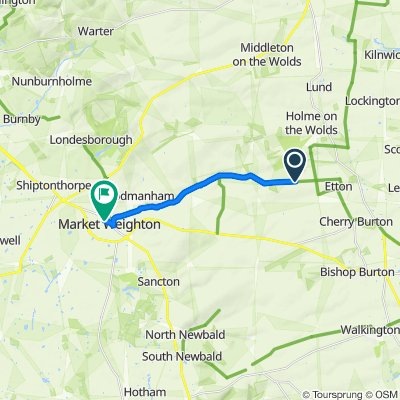Route to 3 Skelton Crescent, York