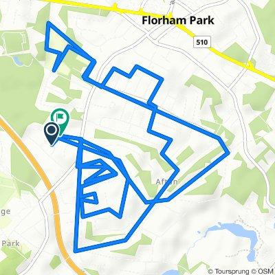 Restful route in Florham Park