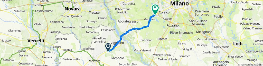 Da Strada San Marco 188, Morsella a Piazza San Lorenzo, Trezzano sul Naviglio