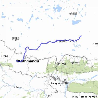 De katmandú a Lasha. De NEpal al Tíbet. Del LLano a las alturas, Del Calor al frío