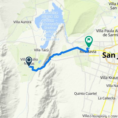 Moderate route in San Juan