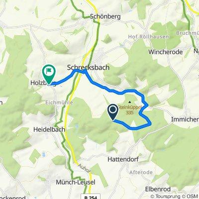 Route nach Heidelbacher Straße 2, Schrecksbach