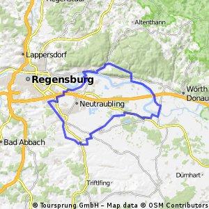 Rundtour Donauradweg über Dörfer 2.0