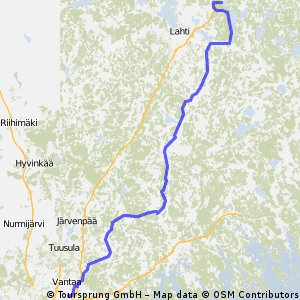 Majaniementie-Läksyrinne 134 km