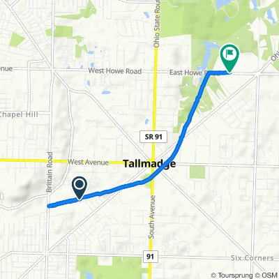Restful route in Tallmadge