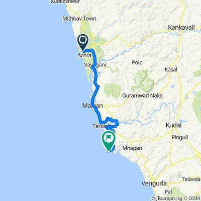coastal route day 9 Jamdul Road, Gaudwadi to Nivati Fort Road