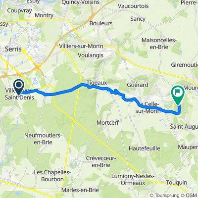 De 22 Rue du Bout du Monde, Villeneuve-Saint-Denis à 11–19 Rue du Courton, Pommeuse