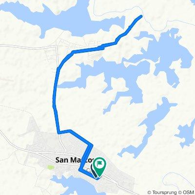 De Calle 18 33-94, San Marcos a Calle 18 33-94, San Marcos