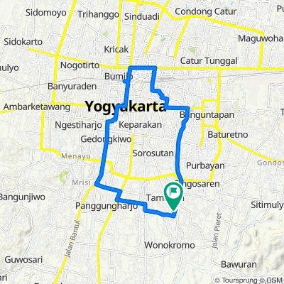 Pesona Tamanan Asri, Kecamatan Banguntapan to Mutiara Tamanan 8, Kecamatan Banguntapan