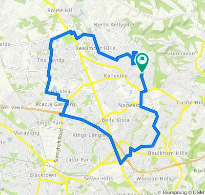 Kellyville, The Ponds and Baulkham Hills (with Paul's shortcut)