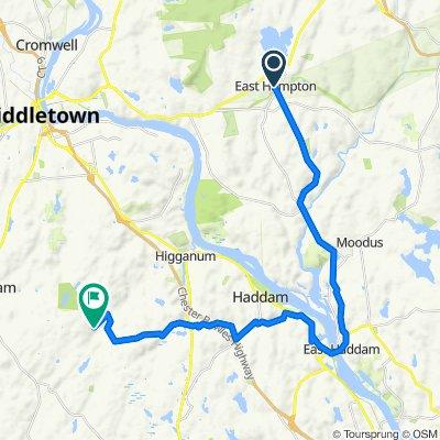 1 Barton Hill Rd, East Hampton to 280–294 Wiese Albert Rd, Higganum