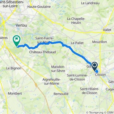 Itinéraire à partir de 14 Rue Cowbridge, Clisson