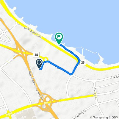 Humoud Al Nasser Street, Kuwait City to Arabian Gulf Street, Salmiya