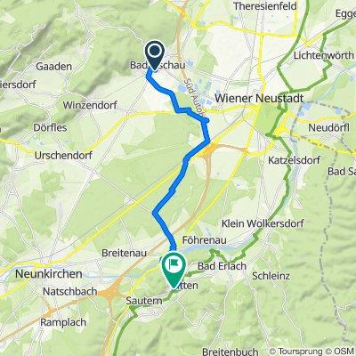 Brunner Gasse 5, Bad Fischau nach Obere Feldstraße 355, Pitten
