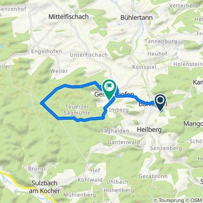 Trinkberg 3, Bühlerzell nach Mehlwiesenweg 17, Bühlerzell