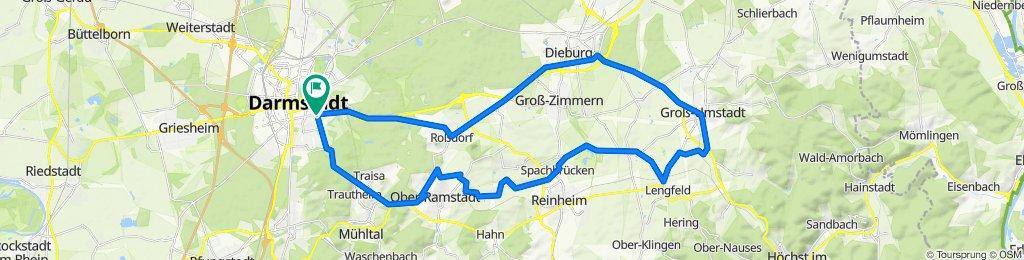 B449 89, Darmstadt nach Nieder-Ramstädter Straße 77, Darmstadt