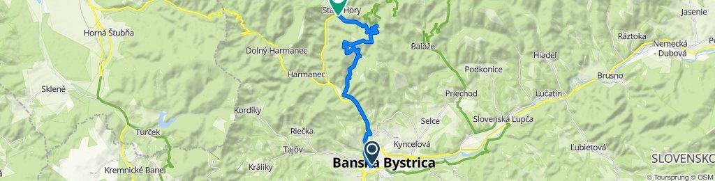 1. Banská Bystrica - Staré Hory (turistická trasa)