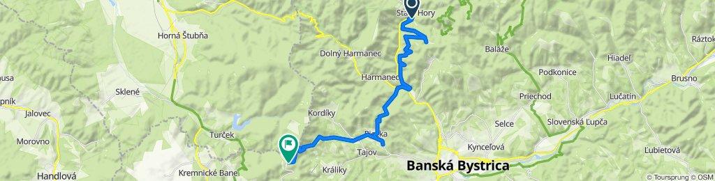 2. Staré Hory - Skalka, alternatíva cez riečku (turistická trasa)