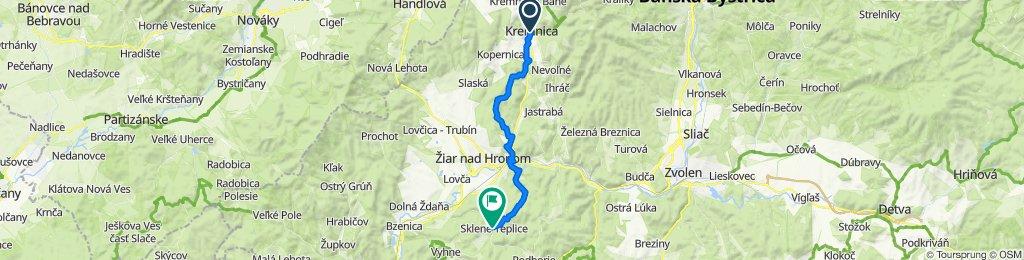 4. Kremnica - Sklené Teplice (turistická trasa)