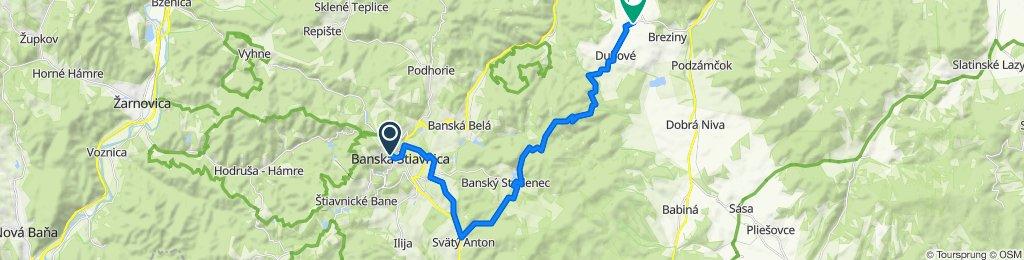 6. Banská Štiavnica - Bacúrov (tursitická trasa)