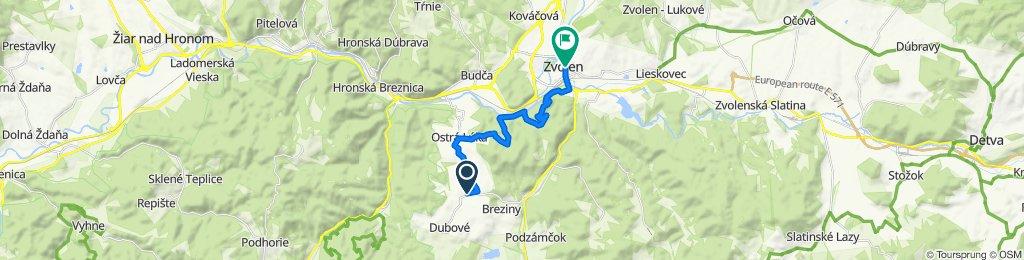 7. Bacúrov-Zvolen (turistická trasa)