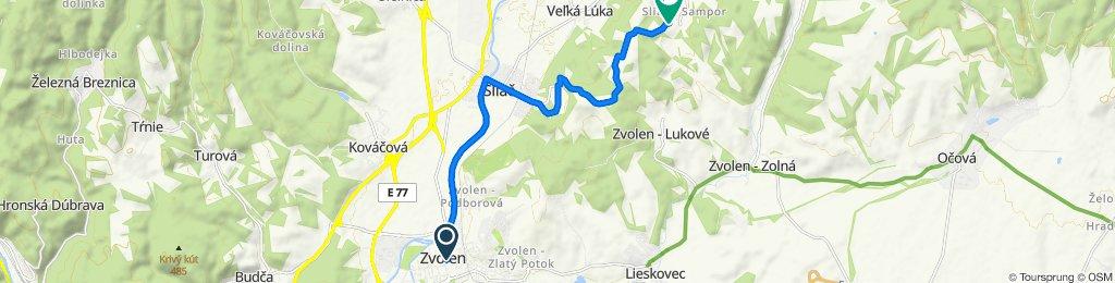 8. Zvolen - Sampor (turistická trasa)