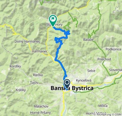 1. Banská Bystrica - Staré Hory (cyklotrasa)