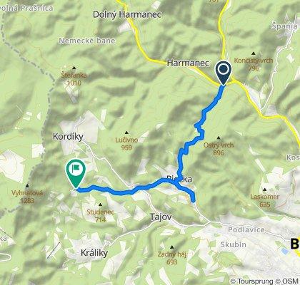 2.Staré Hory - Skalka, alternatíva cez Riečku (cyklotrasa)