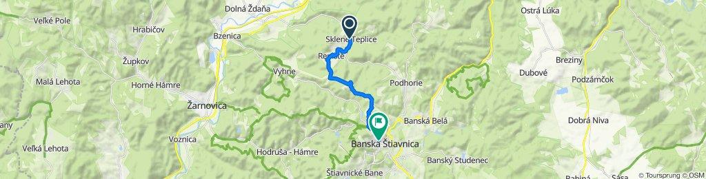 5. Sklené Teplice - Banská Štiavnica (cyklotrasa)