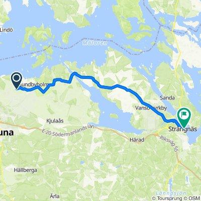 Vickelbyvägen 27, Eskilstuna nach Hospitalsgatan 7–9, Strängnäs