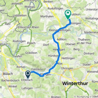 Im Grund 11, Embrach to Rietstrasse, Ossingen