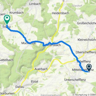 Waldstraße 26–28, Schefflenz nach Rainstraße 61–65, Fahrenbach