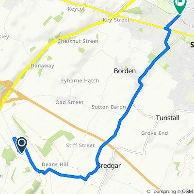 Restful route in Sittingbourne