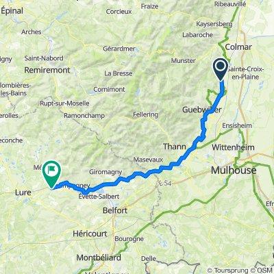 Itinéraire à partir de Rue du Moulin 14, Pfaffenheim