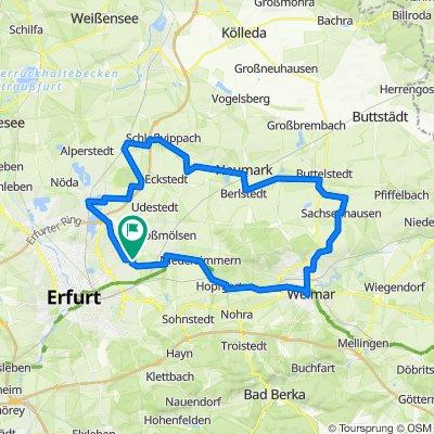 Zum Kleinen Dorfplan 9, Erfurt nach Zum Sulzenberg 17, Erfurt