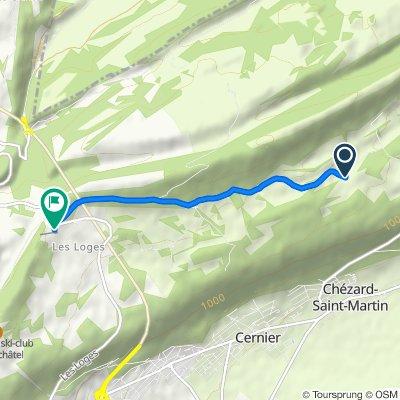 De La Biche 2, Val-de-Ruz à Route de la Vue-des-Alpes 3, Val-de-Ruz