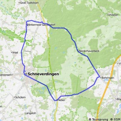 Kurze Trainingsrunde Schneverdingen-Naturschutzgebiet
