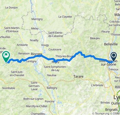 De 215 route de biesse , Frans à D477, Laprugne