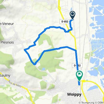 De 17 Rue du Grand Pré, Norroy-le-Veneur à Route de Rombas, Woippy