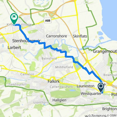 Polmont Road, Falkirk to 1–3 Tryst Park, Larbert