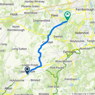 Steady ride in Farnborough