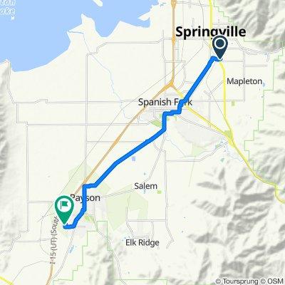 1301–1499 S 500 E St, Springville to 1102 W 1290 S, Payson