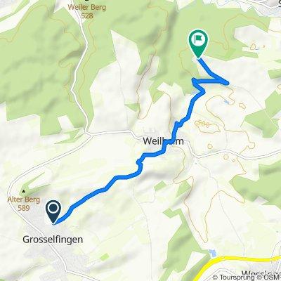 Baumgartenweg 12, Grosselfingen nach Schloß Lindich 4, Hechingen