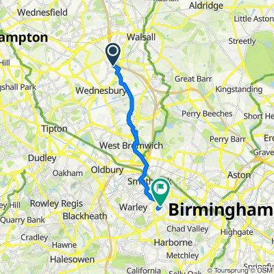 Steady ride in Birmingham