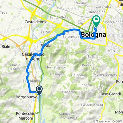 Moderate route in Bologna