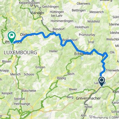 Sauer-Radweg: Wasserbilligerbrück - Ettelbruck (Luxemburg)