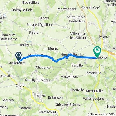 De Rue de la Houssemagne 2-34, Lavilletertre à Rue Montalet 45, Amblainville