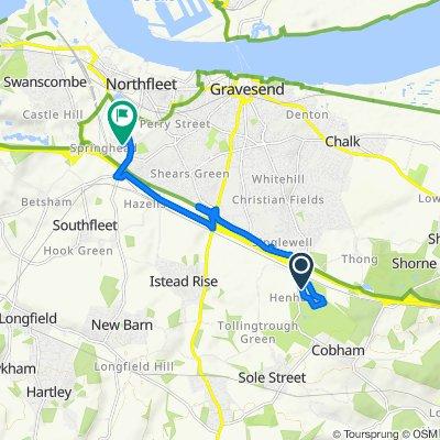 Henhurst Road to Chilvers Way, Northfleet
